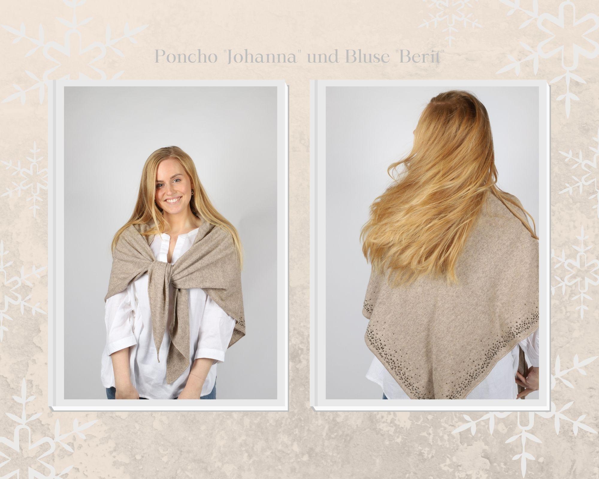 Cremefarben-Schneeflocken-Rand-Winter-Mode-Foto-Collage